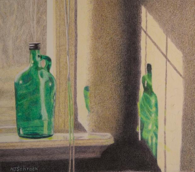 Schrock-Nancy-Colored-Pencils-Green-Bottle